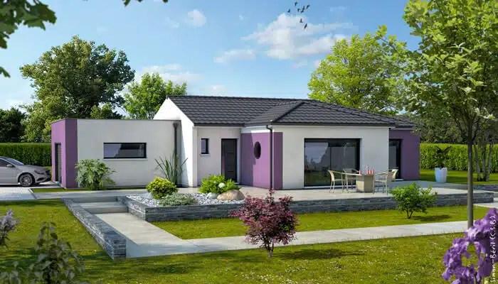 Plan maison moderne z phyr maison plain pied - Maison cubique plain pied ...