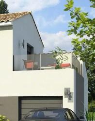 Maison contemporaine - toiture terrasse