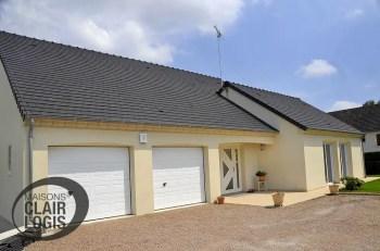 Construction maison plain-pied avec double garage