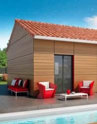 Maison plain pied - bardage bois