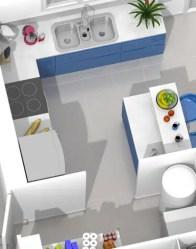 Plan maison 3D - cuisine ouverte