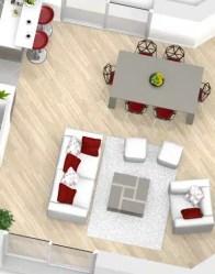 Plan maison 3D - vue salon/séjour