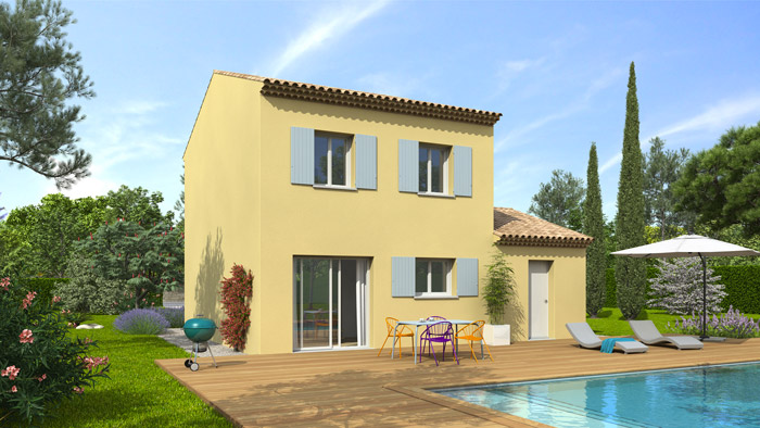 Plan maison provençale Mimosa