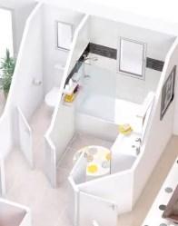Plan maison 3D Violette - vue salle de bain