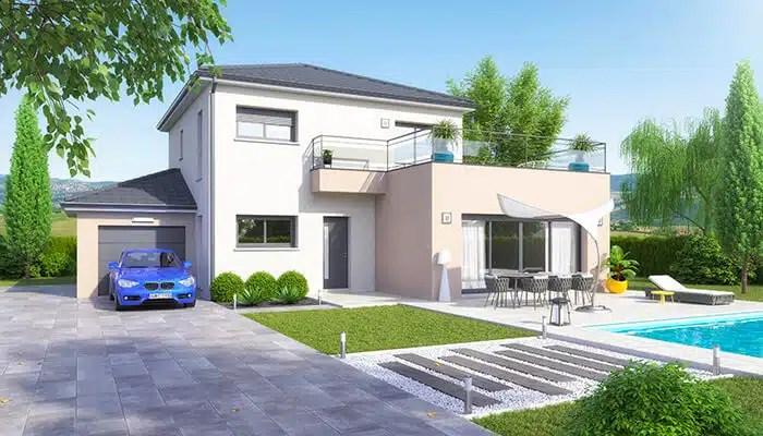 Maison moderne Villa - plan maison gratuit - Maisons Clair Logis