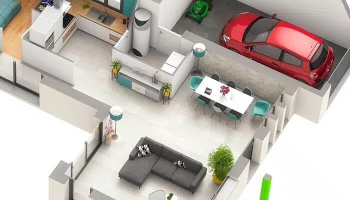 Maison moderne Cocoon - Plan 3D