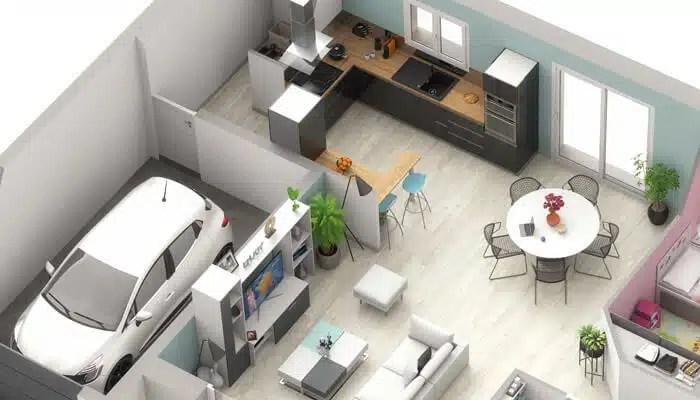 Plan maison 3D - maison plain-pied Ariane
