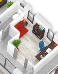 Plan maison 3D olivine - espace multimédia