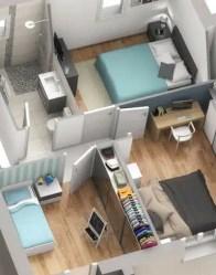 Plan 3D maison Influence - partie nuit