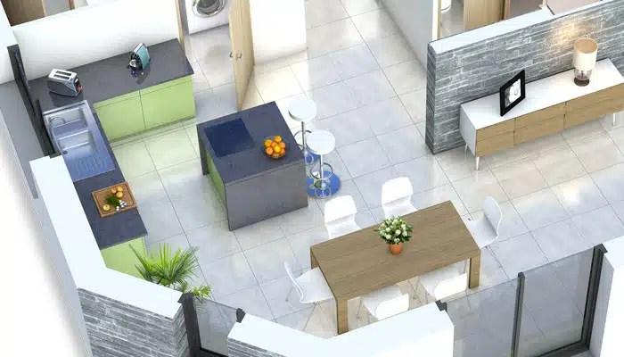 Plan maison 3D - maison moderne Bauges