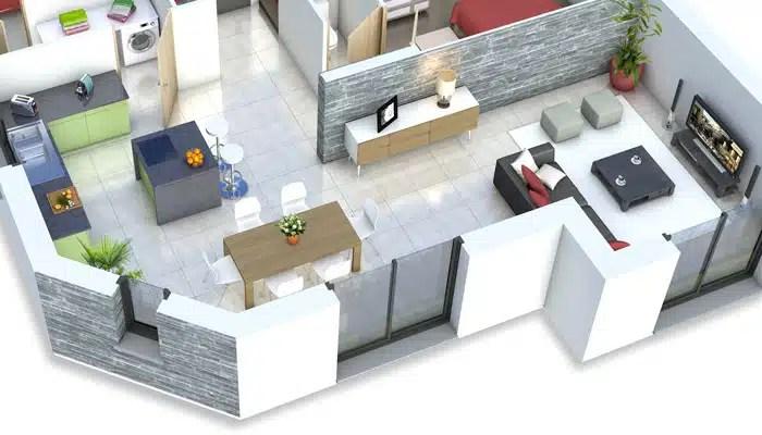 Plan de maison moderne Mont-Revard - plan maison gratuit