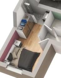 Plan maison 3D Urban - chambre normes PMR