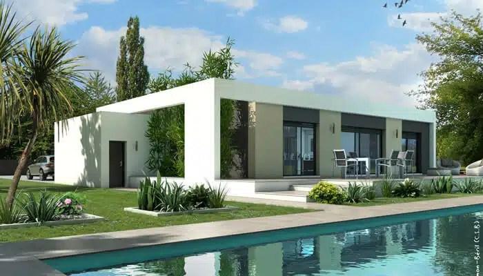 Maison plain pied  plan maison gratuit, plan maison 3D