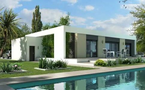Maison plain pied plan maison gratuit plan maison 3d - Plan maison moderne toit plat ...