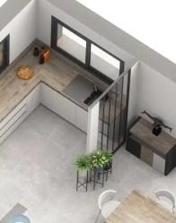 Plan maison Touch - cuisine avec verrière