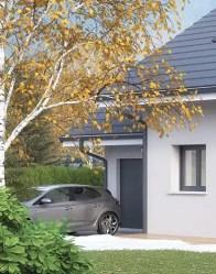 Maison neuve Vercors - vue garage
