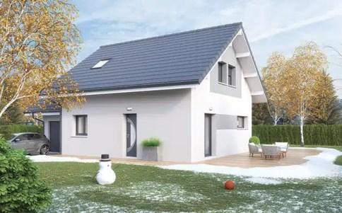 Maison à étage Vercors - enduit gris