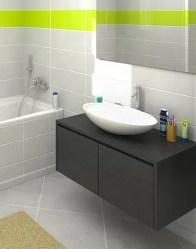 Vue 3D salle de bain - maison traditionnelle Lauzière