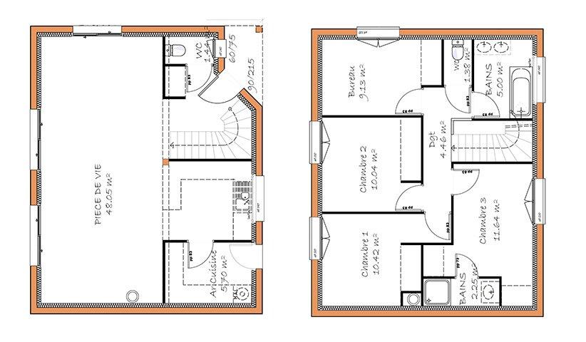plan maison traditionnelle sud loire bbb4