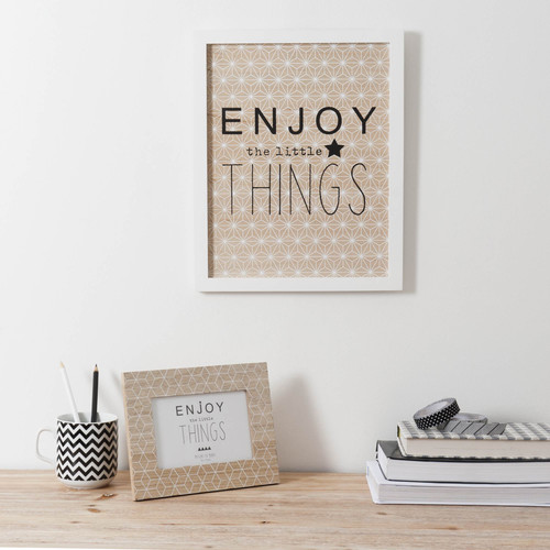 Quadro in legno bianco 28 x 35 cm LITTLE THINGS
