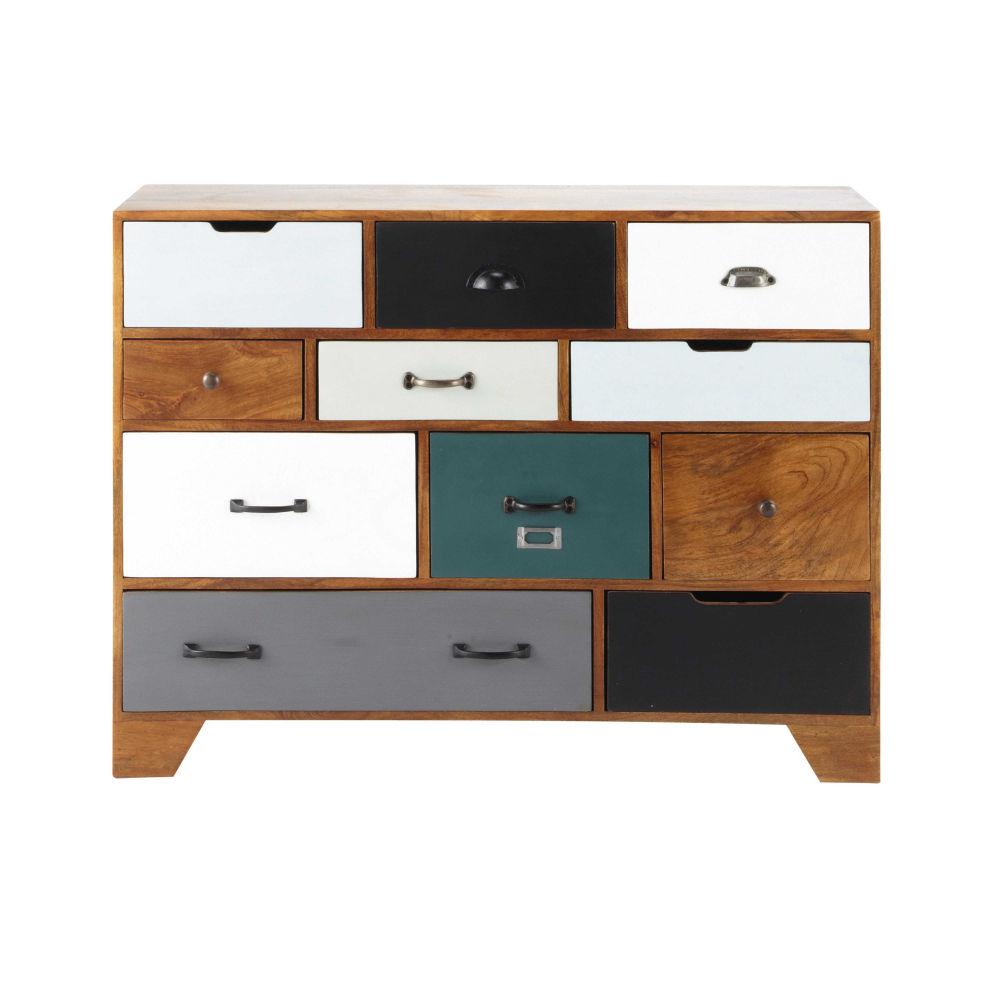 Cabinet De Rangement Vintage En Manguier Massif L Cm