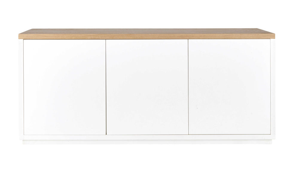 Good Buffet En Chne Massif Blanc Satin L Cm Austral