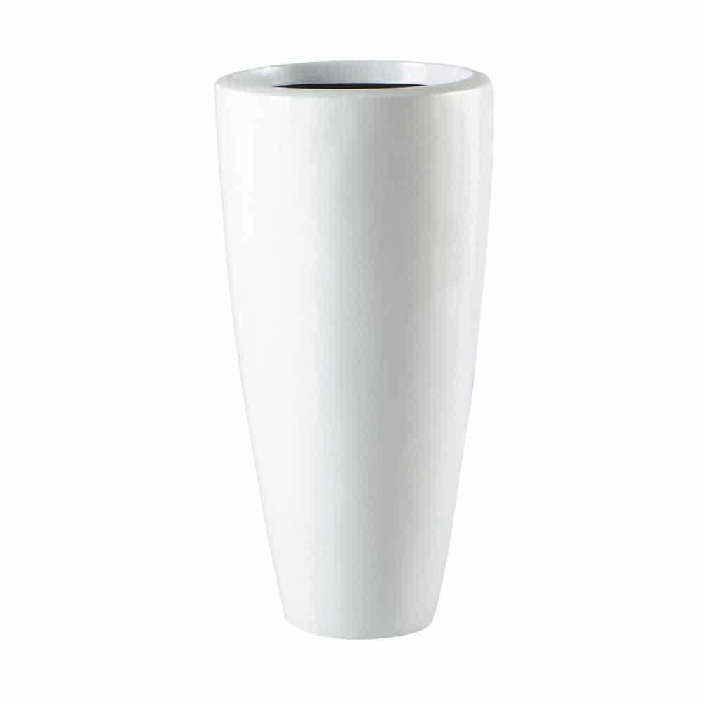 Cache Pot En Rsine Blanc H 77 Cm STOCKHOLM Maisons Du Monde
