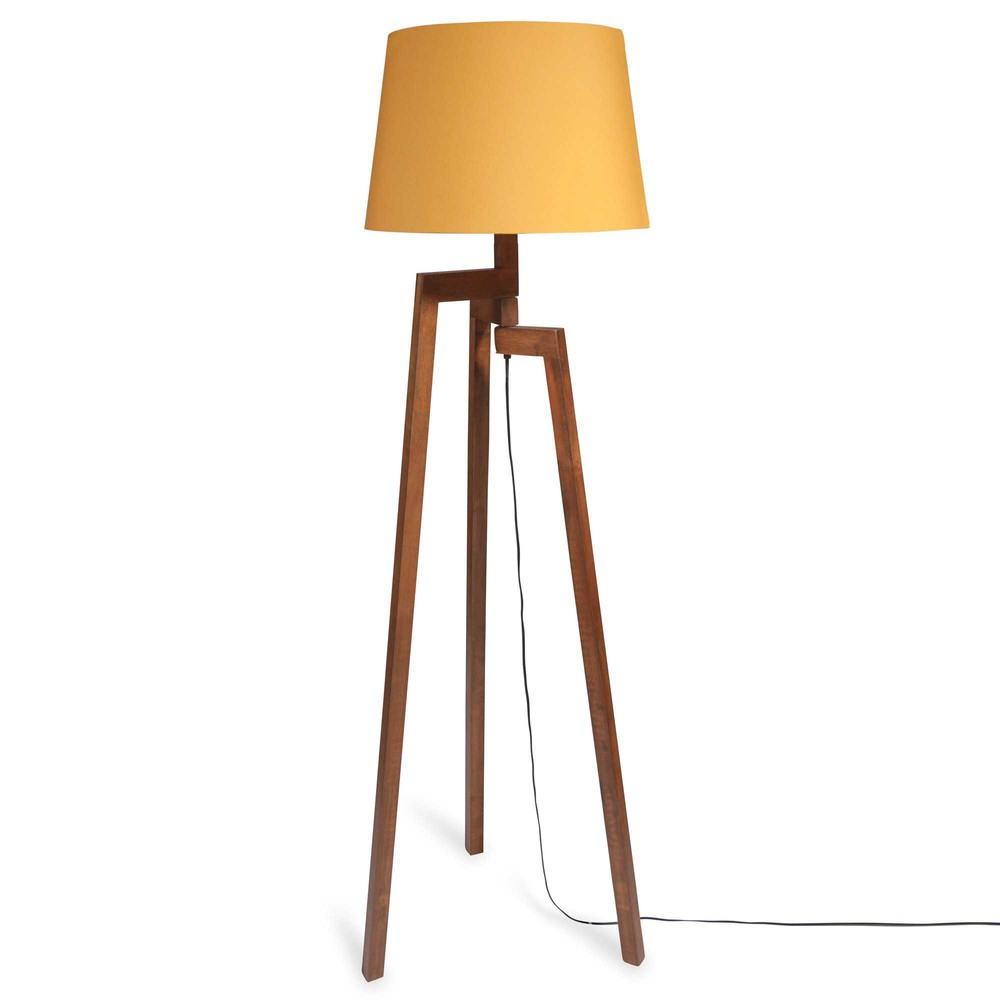beautiful lampadaire trepied en bois moutarde maisons du monde with maisons du monde lampadaire. Black Bedroom Furniture Sets. Home Design Ideas