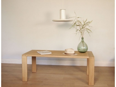table basse scandinave chene clair
