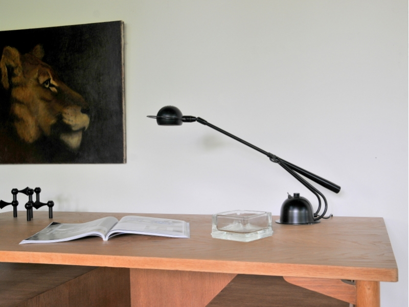 Lampe Bureau Vintage Aluminor Annes 80 Maison Simone