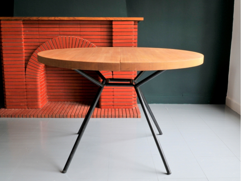 table ronde vintage moderniste maison