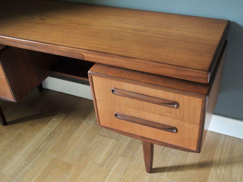 bureau vintage teck design scandinave