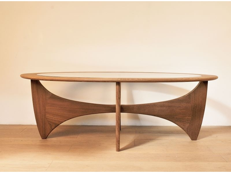 Table Basse Ovale Astro Teck Scandinave Wilkins G Plan