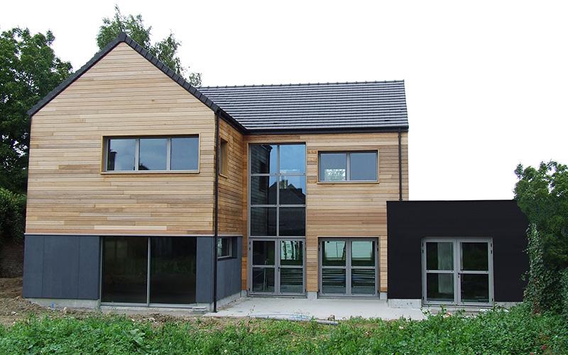 maison ossature bois d'architecte courrière