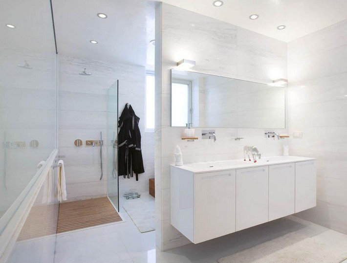 Go White For Simple And Modern Bathroom Inspiration And