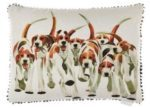 Voyage Maison Mary Ann Rogers Foxhounds Cushion
