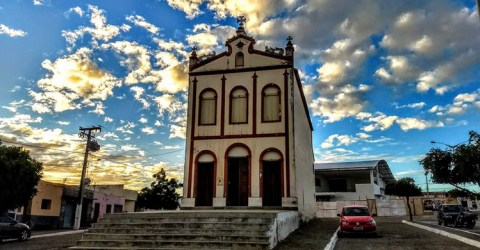 Igreja da cidade de São Domingos do Cariri, no interior paraibano