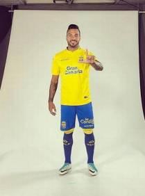 Michel Macedo pe lateral direito do Las Palmas, time da Espanha Foto: Reprodução/Instagram