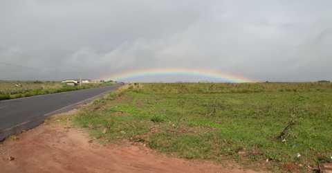 Arco-íris na PB 032, em Pedras de Fogo
