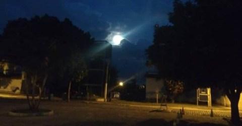 Lua ilumina campus da UFPB na cidade de Solânea, no Brejo