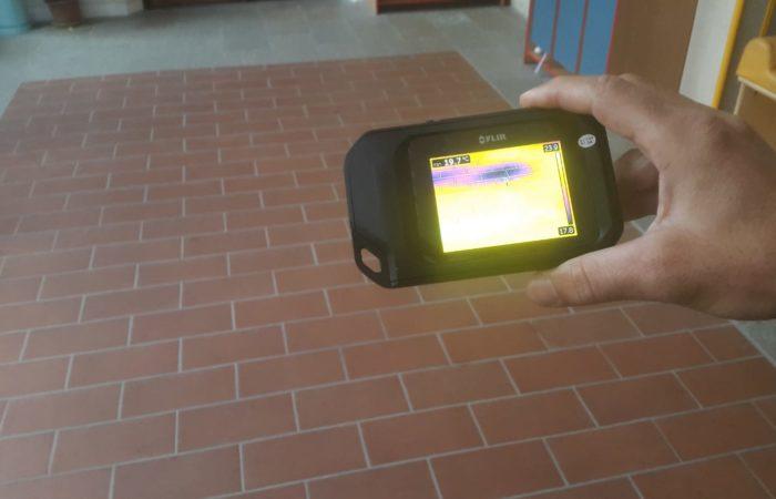 analisi termografica del pavimento