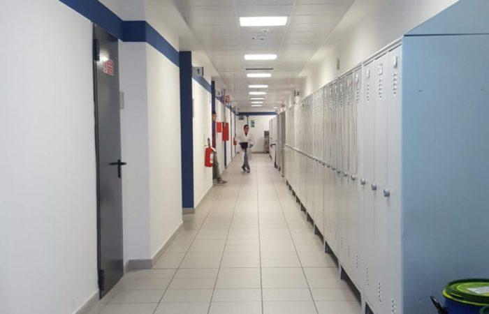 CIBIO - Corridoio dei laboratori sezione Blue