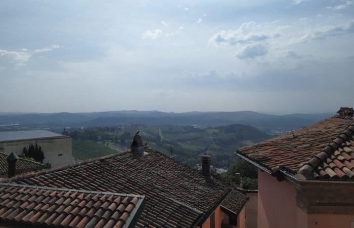 tetti dal castello di Govone