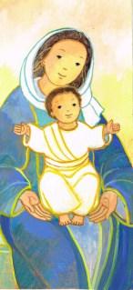 Marie, Jésus, Signet- Maïte Roche