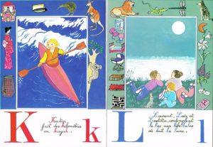 Lettres K et L, Abécédaire, la ronde des mots, Maïte Roche, Mame, 1982