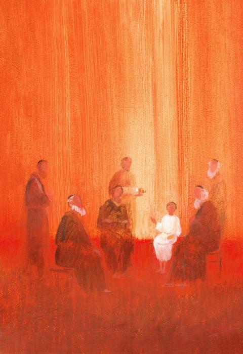 Jésus au Temple, Le temps de Noël, Éditions Fleurus, Maïte Roche