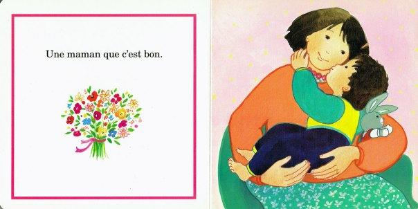 Dans les bras, in La maman de Timothée, Maïte Roche, Mame, 1991