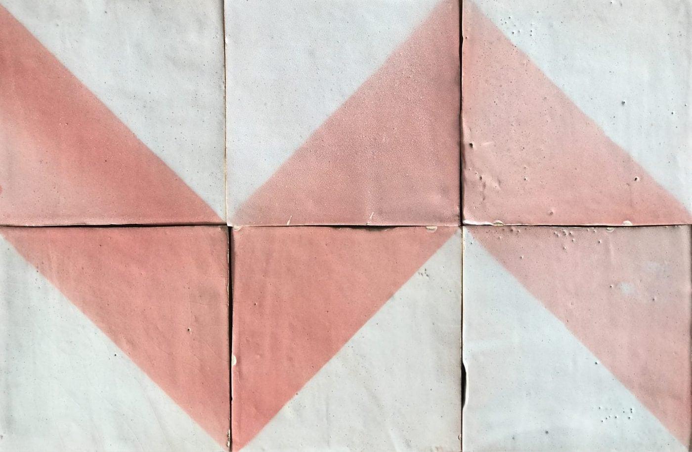rustic hand glazed terracotta tiles