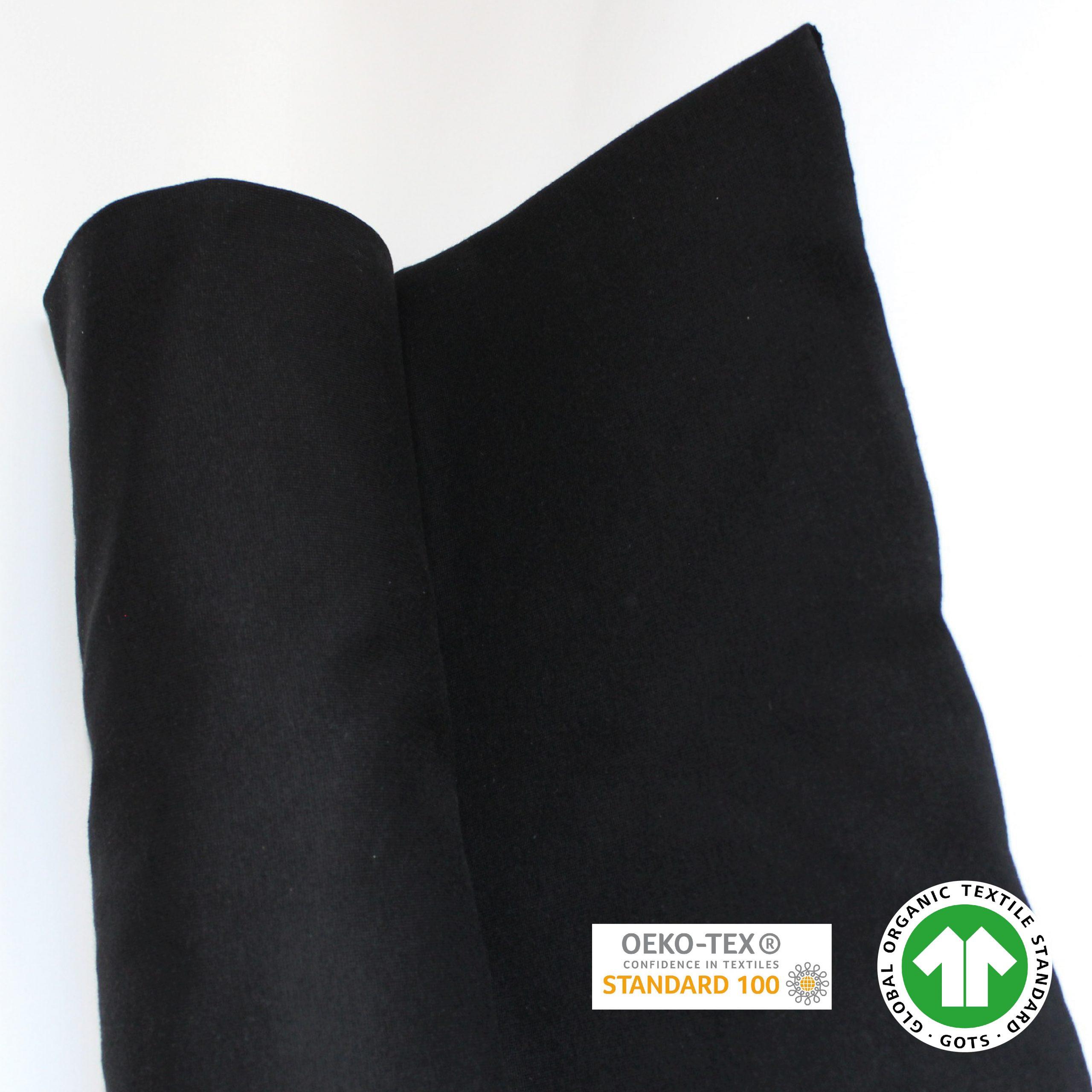 jersey bord-côte noir