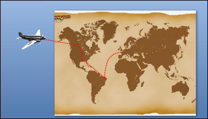 POWERPOINT 2007 : Comment faire un effet animation trajectoire personnalisée avec Indiana Jones en moins de 6 min.